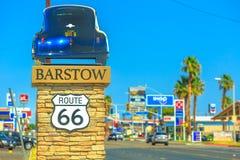 Город Barstow на трассе 66 стоковые фото