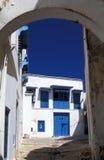 город bou сказал tunisian sidi Стоковая Фотография