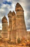 Город Cappadocia отключения воздуха известный в Турции Стоковое Изображение RF