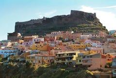 город castelsardo стоковое изображение