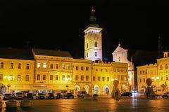 2017-07-01 - Город Ceske Budejovice, чехия - Namesti Pre Стоковые Изображения RF