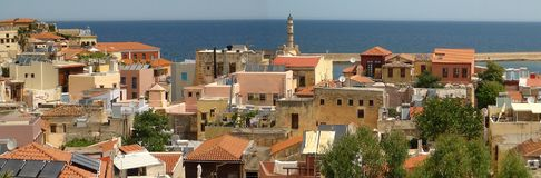 Город Chania стоковая фотография rf