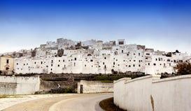 город di ostuni стоковое изображение rf