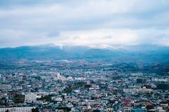 Город Hakodate в Хоккаидо, Японии Третий самый большой внутри после сока стоковые изображения rf