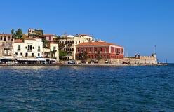 Город Hania на острове Крита, Греции стоковая фотография