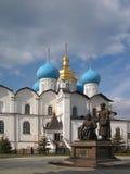 город kazan собора Стоковая Фотография