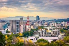 Город Kumamoto, горизонт Японии стоковые фото