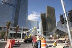 город Las Vegas cente Стоковые Фотографии RF
