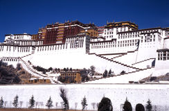 город lhasa стоковая фотография rf