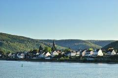 Город Lorch около реки Рейн Стоковые Изображения