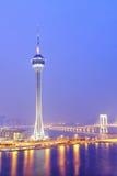 Город Macau на ноче стоковое изображение rf