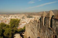 город malaga над взглядом Стоковые Фотографии RF