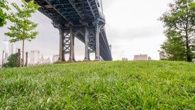 город manhattan New York моста стоковое фото