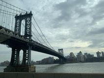 город manhattan New York моста стоковая фотография rf