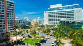 Город Miami Beach вида с воздуха, южный пляж, Флорида, США Стоковая Фотография