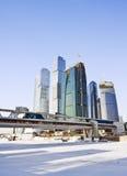 город moscow делового центра Стоковое фото RF