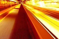 город moscow моста к желтому цвету путя Стоковая Фотография