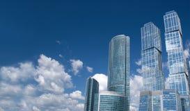 город moscow Россия бизнес-центра Стоковое Фото