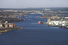 город New York моста bayonne стоковое изображение