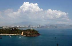 Город Nha Trang, Вьетнам, море южного Китая Стоковая Фотография RF