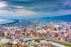 Город Numazu, горизонт Японии стоковое фото rf