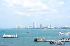 Город Pattaya в Таиланде Стоковые Фото