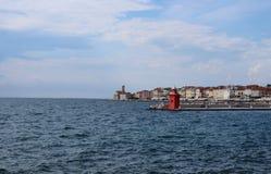 Город Piran Pirano стоковая фотография rf