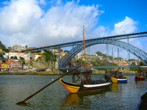 город porto Португалия Стоковые Изображения RF