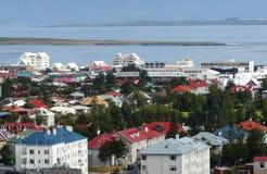 город reykjavik стоковое изображение