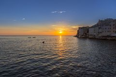 Город Rovinj в Хорватии Стоковые Фото