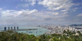 Город Sanya, остров Хайнаня, Китай Стоковые Фото
