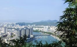 Город Sanya, остров Хайнаня, Китай Стоковое фото RF