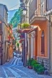 Город Scilla в провинции Reggio Калабрии, Италии Стоковое фото RF