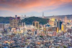 Город Shizuoka, горизонт Японии стоковое изображение