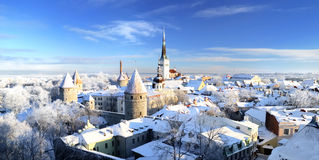 Город Snowy стоковое изображение rf
