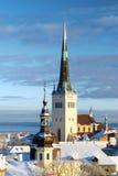 Город Snowy стоковые фото
