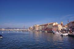 Город St Tropez стоковые фотографии rf