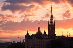 город stockholm стоковые фото