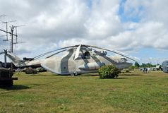Город Togliatti Россия Технический музей k g sakharov Вертолет перехода Mi-26 экспоната советский тяжелый универсальный Стоковое Фото
