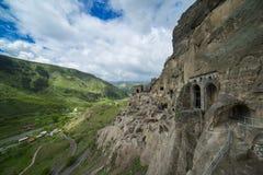 Город Vardzia пещеры стоковая фотография rf
