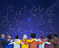 Гороскоп астрологии играет главные роли знаки зодиака Стоковая Фотография
