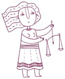 Гороскоп потехи - знак зодиака Libra стоковые изображения
