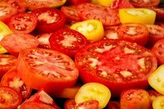 горохи еды предпосылки здоровые естественные Куски томатов Больше предпосылки фруктов и овощей в моем портфолио стоковые изображения rf