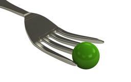 горохи еды шара свежие зеленые Стоковая Фотография