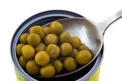 горохи законсервированной еды зеленые стоковые фотографии rf