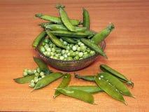 Горох сада (Pisum Sativum) Стоковые Фото