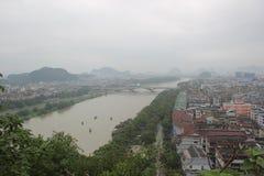 Город ŒThe ¼ Œchinaï ¼ Asiaï туристский Guilin Стоковое Изображение