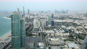 Город Абу-Даби на сумраке видеоматериал