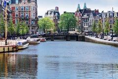 Город Амстердама, Нидерландов Стоковые Изображения