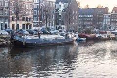 Город Амстердама, река Стоковое фото RF